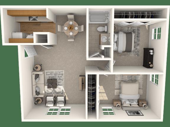 Floor Plan  A2 750 | The Boulders