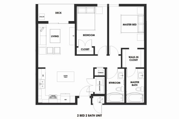 Floor Plan  2BR/2BA Market Rate Millcreek Station