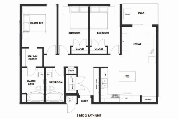 Floor Plan  Millcreek Station 3BR/2BA 50% AMI