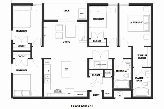 Floor Plan  4BR/2BA 50% AMI Millcreek Station