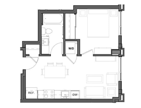 Floor Plan  500 square feet floor plan image