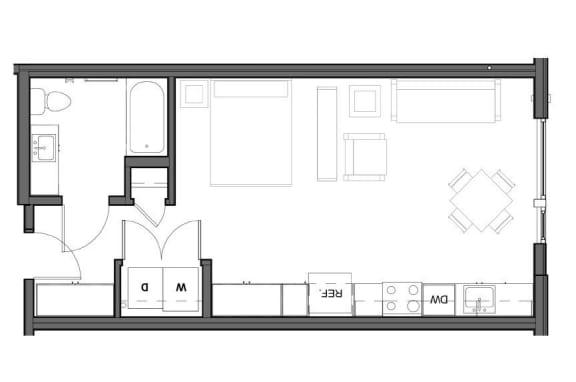 Floor Plan  Studio 540 square feet floor plan image