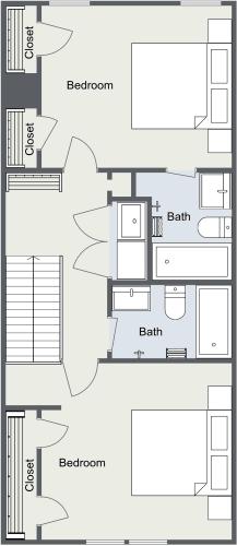Floor Plan  Classic 2 Bedroom Townhome