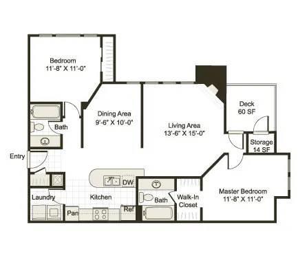 Floor Plan  B1BR