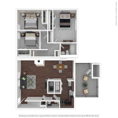 Floor Plan  Woodbridge Apartments Pine Floor Plan