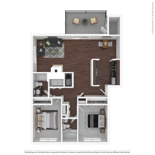 Floor Plan  WoodBridegeApts_Birch Floor Plan