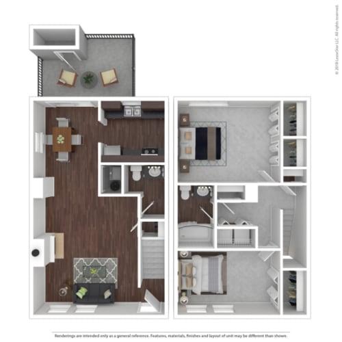 Floor Plan  Woodbridge Apartments Maple Floor Plan