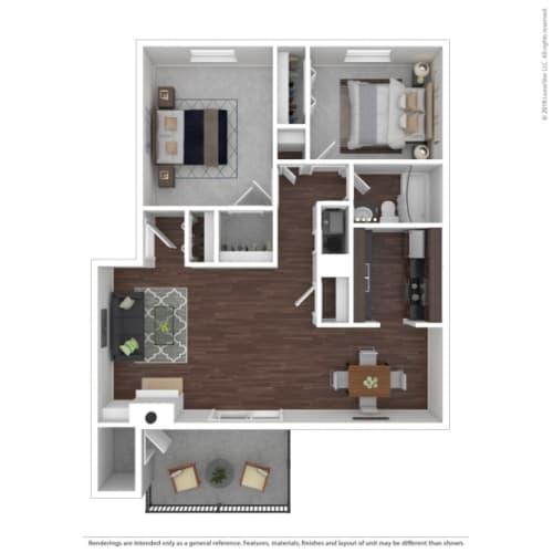 Floor Plan  Woodbridge Apartments Team Floor Plan