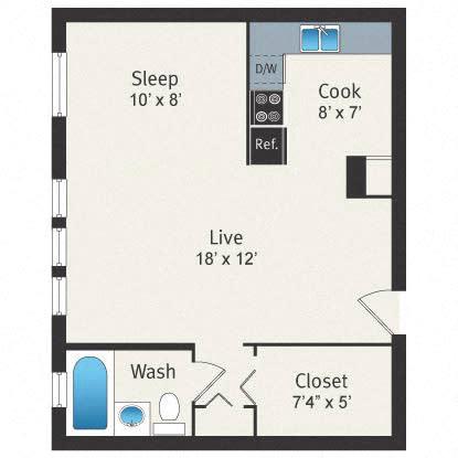 Floor Plan  Studio  Floor plan Reside on Clarendon