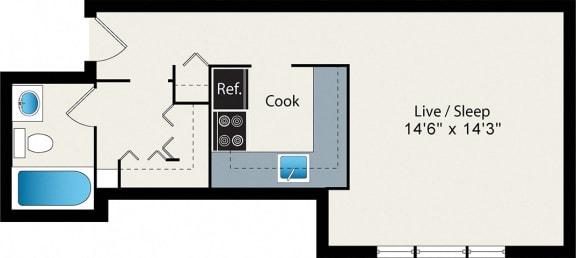 Floor Plan  Studio Large Floor Plan