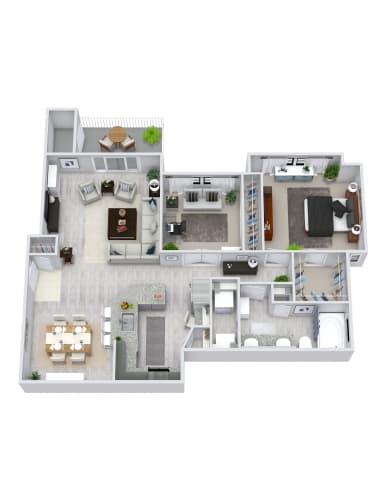 Floor Plan  2 Bedroom, 1 Bath 1016 sqft