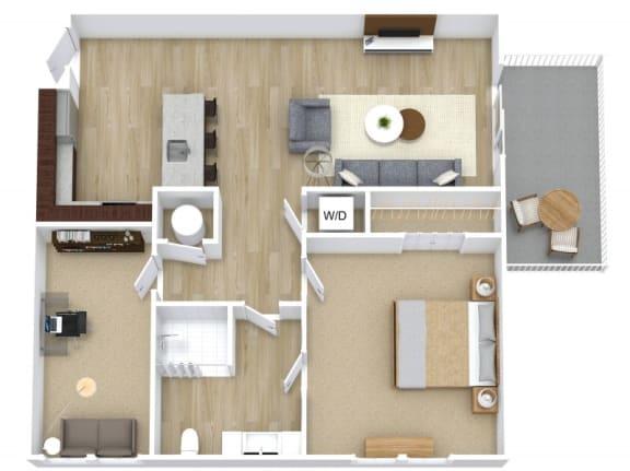 Floor Plan  A4 + Den