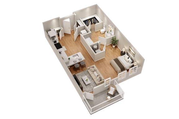 Floor Plan  S1 Studio 622 sq ft