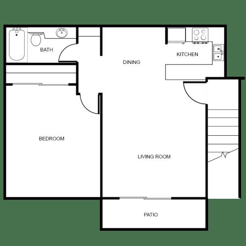 Floor Plan  Starlight Grove - I bedroom - I bath Floor Plan