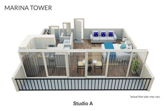 Floor Plan  Studio Unfurnished