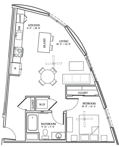 Floor Plan  Aliso A04 719 SF