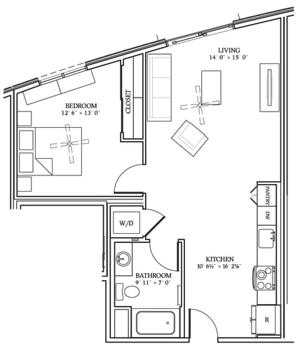 Floor Plan  Aliso A05 721 SF