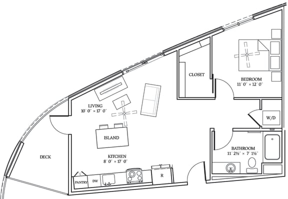 Floor Plan  Aliso A06 744 SF
