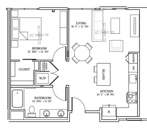 Floor Plan  Aliso A07 754 SF