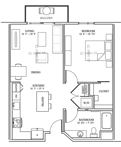 Floor Plan  Aliso A08 780 SF