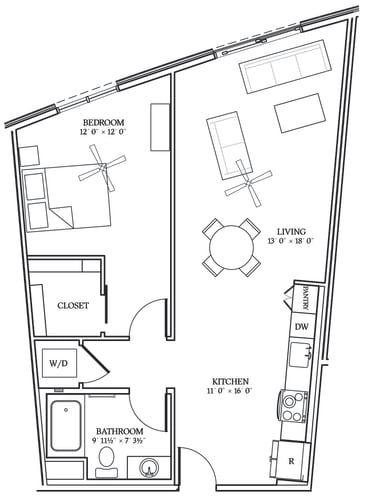 Floor Plan  Aliso A09 826 SF