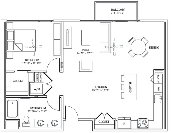 Floor Plan  Aliso A12 962 SF