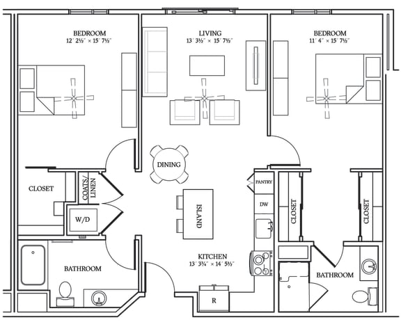 Floor Plan  Aliso B01 1109 SF