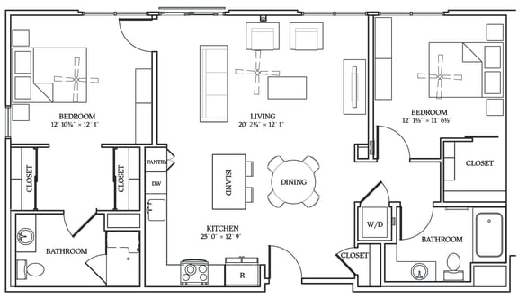 Floor Plan  Aliso B02 1176 SF