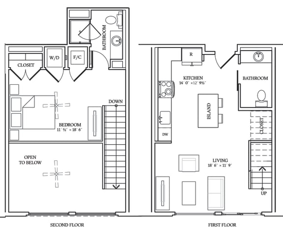 Floor Plan  Aliso L01 791 SF