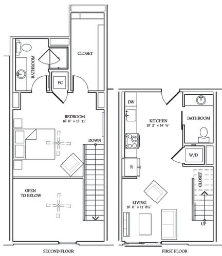 Floor Plan  Aliso L02 808 SF