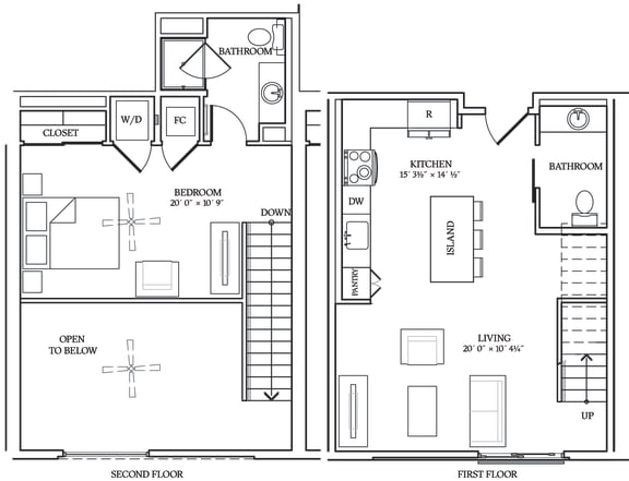 Floor Plan  Aliso L03 858 SF