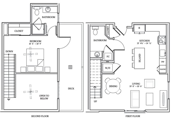 Floor Plan  Aliso L04 889 SF