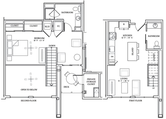 Floor Plan  Aliso L05 905 SF