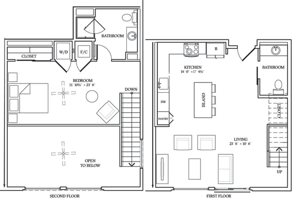 Floor Plan  Aliso L07 966 SF