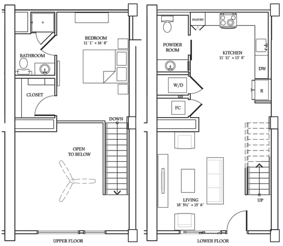 Floor Plan  Aliso LW1 882 SF