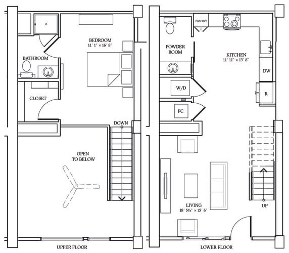 Floor Plan  Aliso LW2 884 SF