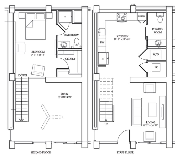 Floor Plan  Aliso LW4 966 SF