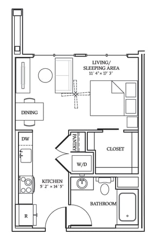 Floor Plan  Aliso S02 454 SF