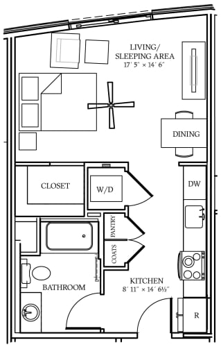 Floor Plan  Aliso S03 479 SF
