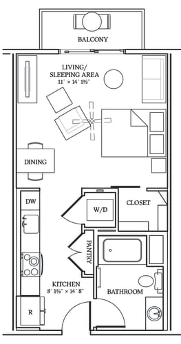 Floor Plan  Aliso S04 493 SF