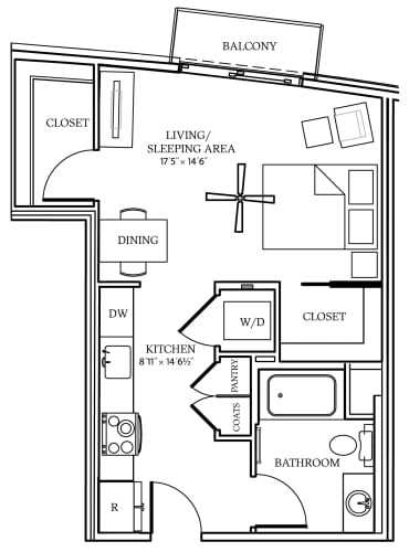 Floor Plan  Aliso S06 526 SF