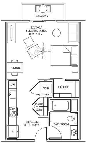 Floor Plan  Aliso S07 550 SF