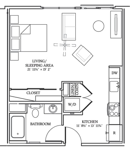 Floor Plan  Aliso S08 564 SF