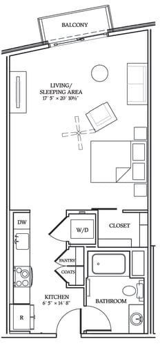 Floor Plan  Aliso S09 625 SF