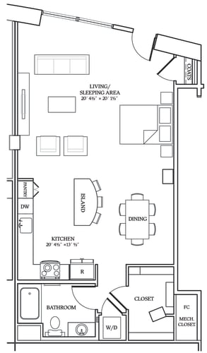 Floor Plan  Aliso S10 893 SF