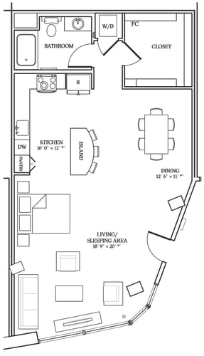 Floor Plan  Aliso S11 916 SF