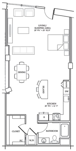 Floor Plan  Aliso S12 927 SF