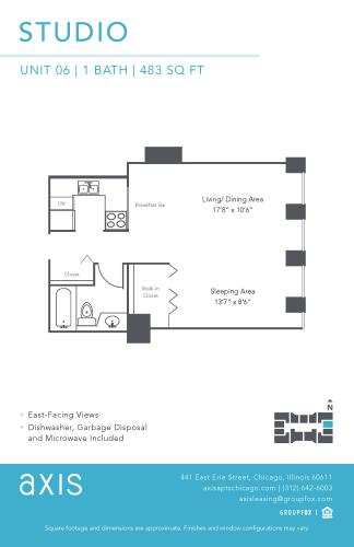 Floor Plan  Axis Studio Apartment