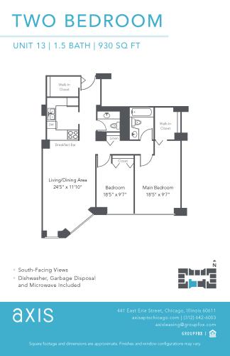 Floor Plan  Axis Two Bedroom Apartment
