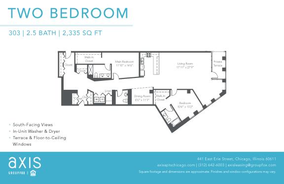 Floor Plan  Axis Two Bedroom Loft